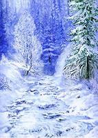 J. Ditsch, Winter am Bach