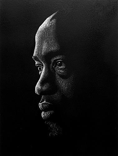 Dietrich Moravec, Porträt, Menschen: Mann, Menschen: Gesichter, Realismus