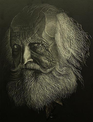 Dietrich Moravec, Der Prophet, Menschen: Mann, Menschen: Porträt, Realismus, Neuzeit