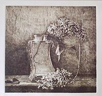 Dietrich-Moravec-Stilleben-Pflanzen-Blumen-Moderne-Naturalismus