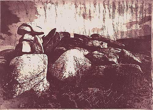 Dietrich Moravec, Steindrache, Landschaft: Hügel, Landschaft: Herbst, Naturalismus