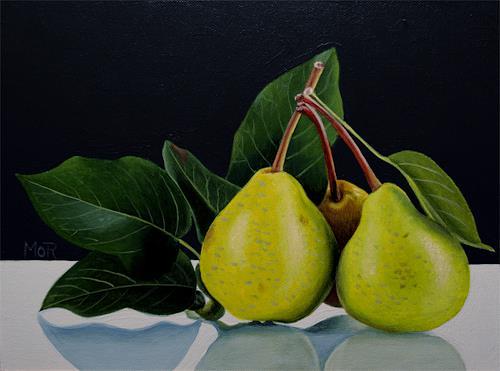 Dietrich Moravec, Drei von einem Baum / Three from one tree, Ernte, Pflanzen: Früchte, Realismus, Expressionismus