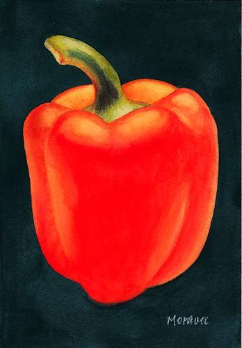 Dietrich Moravec, Rred Pepper, Stilleben, Pflanzen: Früchte, Realismus