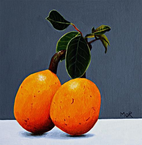 Dietrich Moravec, Marulafrüchte, Pflanzen: Früchte, Stilleben, Realismus