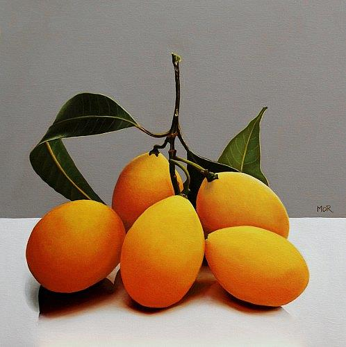 Dietrich Moravec, Marianenpflaumen, Essen, Pflanzen: Früchte, Realismus, Expressionismus