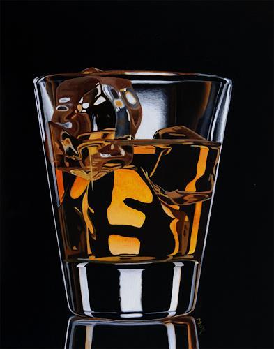 Dietrich Moravec, On the Rocks, Party/Feier, Stilleben, Realismus, Abstrakter Expressionismus