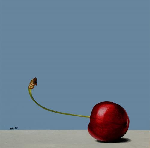 Dietrich Moravec, Red Spot, Pflanzen: Früchte, Stilleben, Fotorealismus, Expressionismus