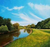 Dietrich-Moravec-Natur-Wasser-Landschaft-Huegel-Neuzeit-Realismus