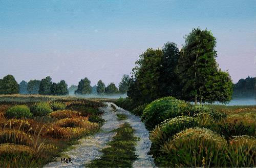 Dietrich Moravec, Heideland/Heathland, Landschaft: Ebene, Landschaft: Herbst, Realismus, Expressionismus