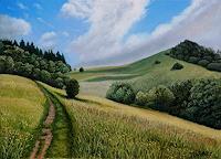 Dietrich-Moravec-Landschaft-Sommer-Landschaft-Huegel-Moderne-Avantgarde