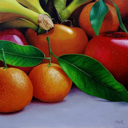 Dietrich Moravec, Multi Kulti, Pflanzen: Früchte, Essen, Fotorealismus, Expressionismus