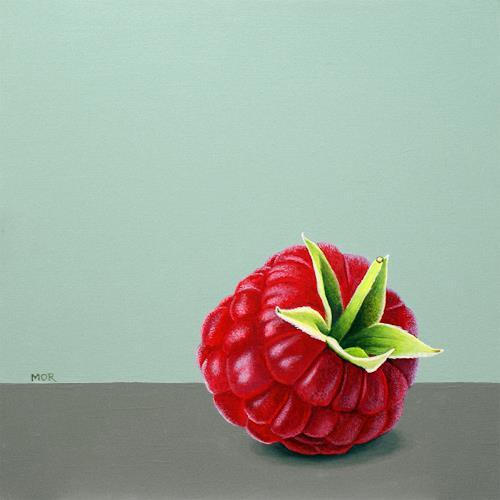 Dietrich Moravec, Rotes Juwel, Pflanzen: Früchte, Essen, Fotorealismus, Expressionismus