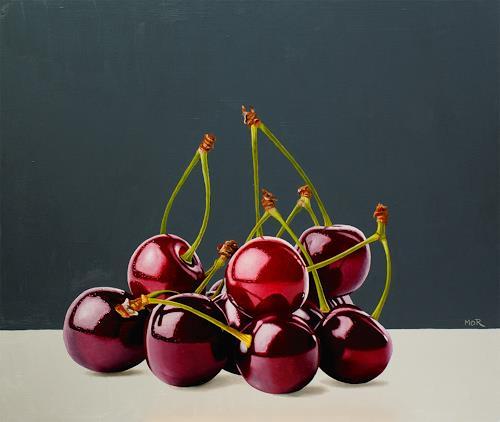 Dietrich Moravec, Cheering Cherries, Pflanzen: Früchte, Essen, Fotorealismus, Expressionismus