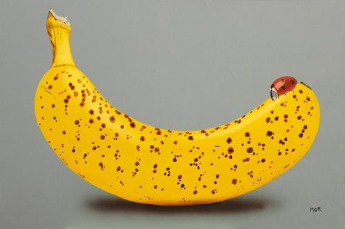 Dietrich Moravec, Dots and Spots, Pflanzen: Früchte, Essen, Fotorealismus, Abstrakter Expressionismus