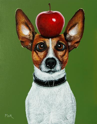 Dietrich Moravec, You Sure Hit The Apple?, Tiere: Land, Skurril, Realismus, Abstrakter Expressionismus