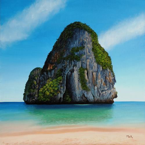 Dietrich Moravec, Majestic Rock, Landschaft, Landschaft: See/Meer, Hyperrealismus