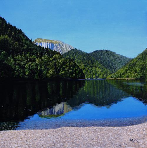 Dietrich Moravec, Silent Reflexions, Landschaft: Berge, Landschaft: See/Meer, Fotorealismus, Expressionismus