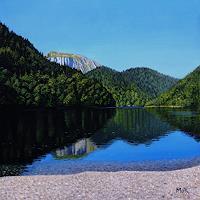 Dietrich-Moravec-Landschaft-Berge-Landschaft-See-Meer-Moderne-Fotorealismus