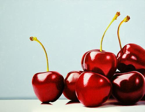 Dietrich Moravec, Rhapsody in Red, Pflanzen: Früchte, Stilleben, Hyperrealismus, Expressionismus