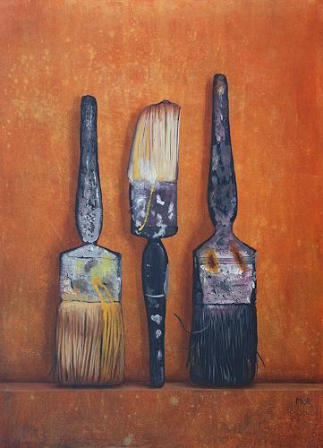 Dietrich Moravec, Veteranen, Stilleben, Arbeitswelt, Hyperrealismus, Expressionismus