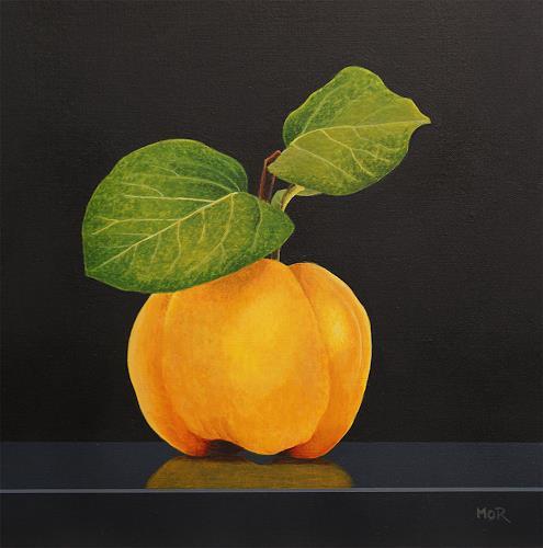 Dietrich Moravec, Quitte, Pflanzen: Früchte, Stilleben, Hyperrealismus