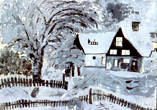 Michael Thomas Sachs, Winter, Poesie, Impressionismus