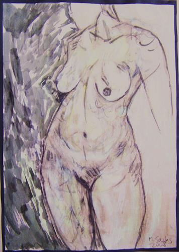 Michael Thomas Sachs, Frauenakt, Fantasie, Naturalismus