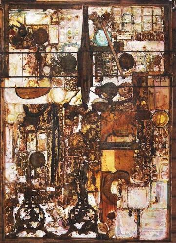 Michael Thomas Sachs, Komposition, Abstraktes, Action Painting