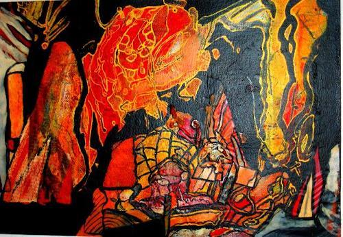 Michael Thomas Sachs, Landschaft, Fantasie, Abstrakte Kunst