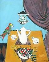 Peter-Janssen-Stilleben-Tiere-Luft-Moderne-Impressionismus-Postimpressionismus