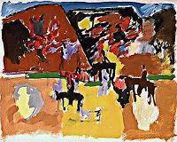 Peter-Janssen-Diverses-Landschaft-Sommer-Moderne-Expressionismus-Neo-Expressionismus