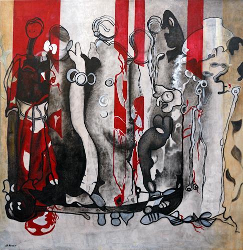 Branka Moser, ohne Titel 2013, Gesellschaft, Abstraktes, Gegenwartskunst, Abstrakter Expressionismus