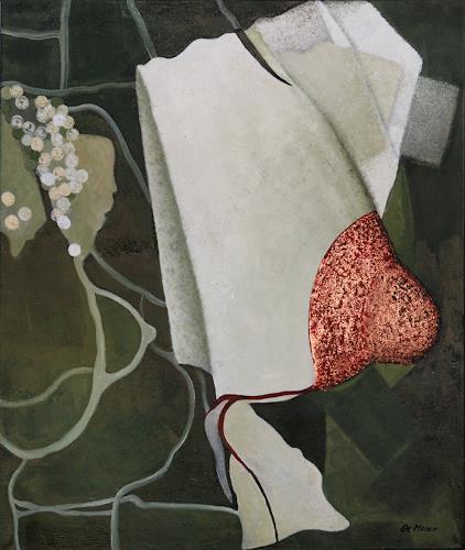 Branka Moser, ohne Titel 1213-2, Abstraktes, Mythologie, Gegenwartskunst, Expressionismus