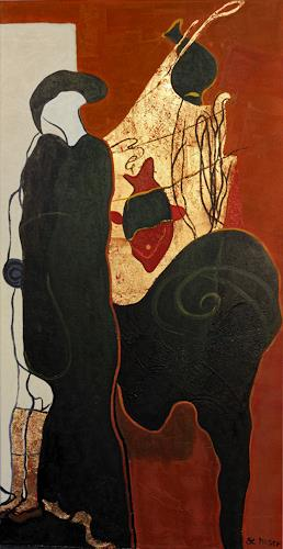 Branka Moser, ohne Titel 1213-3, Abstraktes, Mythologie, Gegenwartskunst, Expressionismus