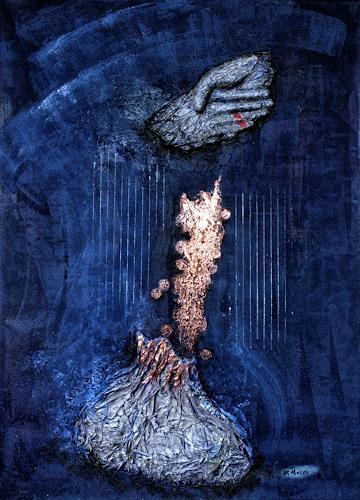 Branka Moser, Manus Manum Lavat, Abstraktes, Gesellschaft, Gegenwartskunst