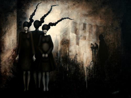 Branka Moser, ohne Titel 12/08, Gesellschaft, Gegenwartskunst, Abstrakter Expressionismus