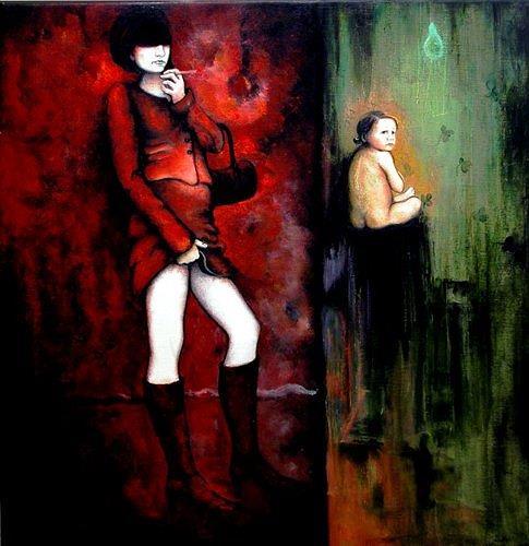 Branka Moser, ohne Titel, Menschen: Frau, Gegenwartskunst, Abstrakter Expressionismus