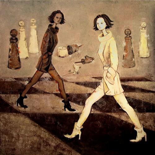 Branka Moser, ohne titel, Menschen: Frau, Gegenwartskunst, Expressionismus