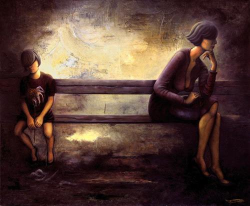 Branka Moser, ohne Titel, Diverse Menschen, Diverse Menschen, Gegenwartskunst, Expressionismus