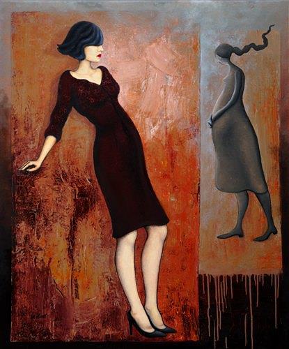 Branka Moser, ohne Titel, Menschen: Frau, Menschen: Frau, Gegenwartskunst, Expressionismus