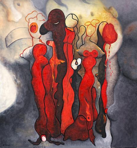 Branka Moser, ohne Titel, Abstraktes, Gesellschaft, Gegenwartskunst