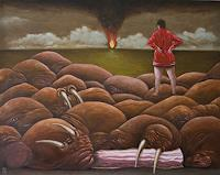 Hinrich-van-Huelsen-Fantasie-Tiere-Wasser-Gegenwartskunst--Postsurrealismus