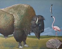 Hinrich-van-Huelsen-Diverse-Tiere-Fantasie-Gegenwartskunst--Postsurrealismus