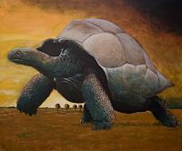 Hinrich-van-Huelsen-Tiere-Land-Landschaft-Ebene-Gegenwartskunst-Postsurrealismus