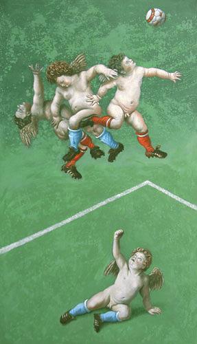 Hinrich van Hülsen, Der Rasen ist gut, Bewegung, Fantasie, Gegenwartskunst, Expressionismus