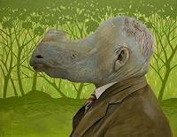 Hinrich-van-Huelsen-Menschen-Mann-Tiere-Land-Gegenwartskunst-Postsurrealismus