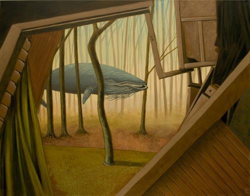Hinrich van Hülsen, They're coming to take me away, Diverse Landschaften, Tiere: Wasser, Postsurrealismus, Abstrakter Expressionismus