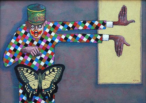 Hinrich van Hülsen, Was sich so oft wiederholt, Skurril, Fantasie, Postsurrealismus, Abstrakter Expressionismus