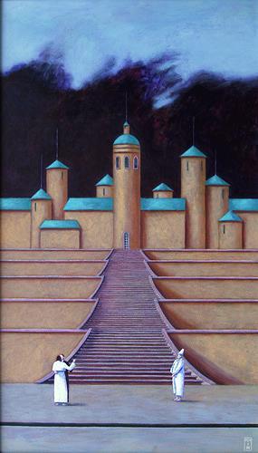Hinrich van Hülsen, Tanz unten, Architektur, Fantasie, Postsurrealismus