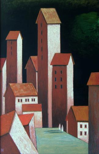 Hinrich van Hülsen, Die Dämmerung der Melancholie, Architektur, Fantasie, Postsurrealismus
